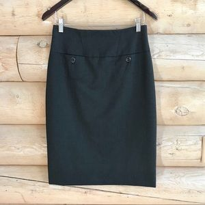 NWOT Trina Turk Charcoal Gray Pencil Skirt